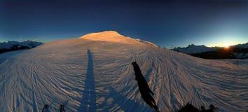 Coucher du soleil alpestre 1. Image libre de droits