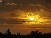 Coucher du soleil ambre photos libres de droits