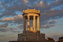 Coucher du soleil Ancona Italie de Passeto Image libre de droits