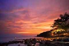 Coucher du soleil asiatique Photo libre de droits