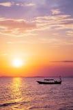 Coucher du soleil asiatique du sud-est photographie stock