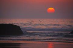 coucher du soleil atlantique Photo stock