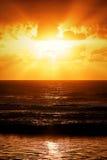 Coucher du soleil au Bahia - au Brésil image stock