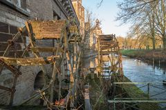 Coucher du soleil au château Arenburg Photographie stock libre de droits
