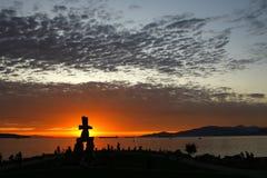 Coucher du soleil au compartiment anglais Image libre de droits