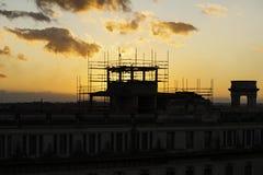 Coucher du soleil au Cuba Photographie stock
