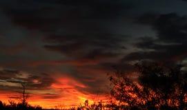 Coucher du soleil au-dessus d'El Paso Images stock