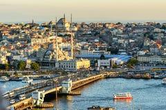 Coucher du soleil au-dessus d'Istanbul, Turquie Image stock