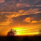 coucher du soleil au-dessus d'Oxford photographie stock