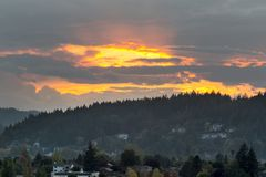 Coucher du soleil au-dessus de bâti Talbert en vallée heureuse Photographie stock