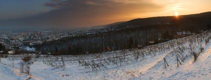 Coucher du soleil au-dessus de Bratislava - la Slovaquie images libres de droits