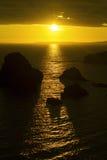 Coucher du soleil au-dessus de comté Clare de tête de boucle Photos libres de droits