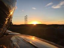 Coucher du soleil au-dessus de Cramlington Images libres de droits