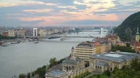 Coucher du soleil au-dessus de Danube clips vidéos