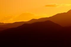 Coucher du soleil au-dessus de Death Valley Images libres de droits