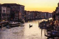 Coucher du soleil au-dessus de Grand Canal Images libres de droits