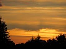 Coucher du soleil au-dessus de Kenmare, Kerry Ireland Photographie stock libre de droits