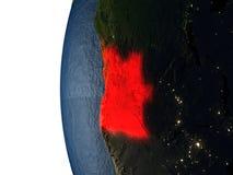 Coucher du soleil au-dessus de l'Angola de l'espace Images libres de droits