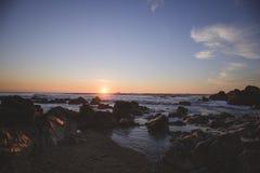 Coucher du soleil au-dessus de l'Océan Atlantique Photo stock