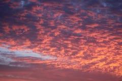 Coucher du soleil au-dessus de l'Océan Atlantique de Bermuds images stock