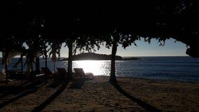 Coucher du soleil au-dessus de l'océan pacifique Photographie stock libre de droits