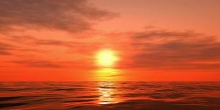 Coucher du soleil au-dessus de la mer illustration stock