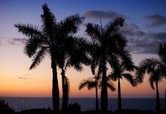 Coucher du soleil au-dessus de la mer cuba Image stock
