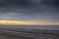 Coucher du soleil au-dessus de la Mer du Nord Photographie stock