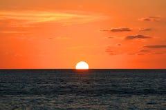 Coucher du soleil au-dessus de la mer, Key West, la Floride Image libre de droits
