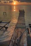 Coucher du soleil au-dessus de la Mer Noire Photos stock