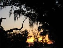 coucher du soleil au-dessus de lac Pontchartrain Images libres de droits