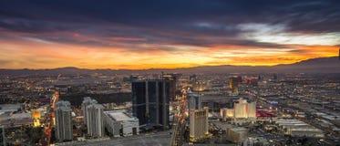 Coucher du soleil au-dessus de Las Vegas Photographie stock libre de droits