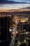 Coucher du soleil au-dessus de Las Vegas Images stock