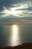 Coucher du soleil au-dessus de ligue de Slieve, Irlande Photo stock