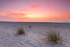 Coucher du soleil au-dessus de littoral de la Floride Images libres de droits