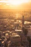 Coucher du soleil au-dessus de Londres Image libre de droits