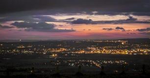 Coucher du soleil au-dessus de Maidstone Images libres de droits