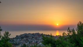 Coucher du soleil au-dessus de Marmaras photo stock