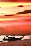 Coucher du soleil au-dessus de mer d'Andaman Image libre de droits