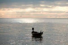 Coucher du soleil au-dessus de mer d'Andaman Photo stock