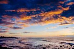 Coucher du soleil au-dessus de mer Effet de tonique d'Instagram l'europe georgia image stock