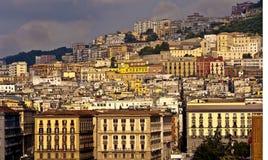 Coucher du soleil au-dessus de Naples Image stock