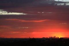 Coucher du soleil au-dessus de Phoenix Images libres de droits