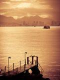 Coucher du soleil au-dessus de Rio de Janeiro Photographie stock libre de droits