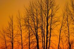 Coucher du soleil au-dessus de Sandpoint Photos stock