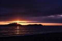 Coucher du soleil au-dessus de Sanya Images libres de droits