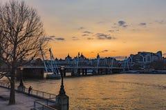 Coucher du soleil au-dessus de Southbank images libres de droits