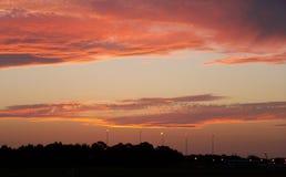 Coucher du soleil au-dessus de Sydney Image libre de droits