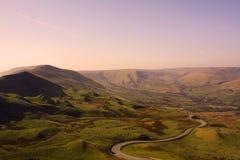 Coucher du soleil au-dessus de vallée maximale de secteur Image libre de droits