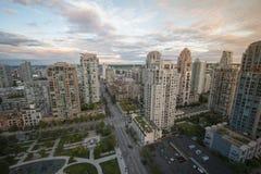 Coucher du soleil au-dessus de Vancouver Photo libre de droits
